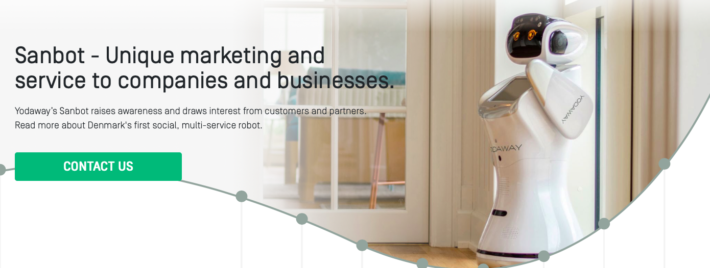Sanbot - Unique marketing and  service to companies and business